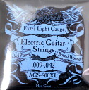 AriaProII AGS-800XL electric guitar strings ARIA Pro II electric guitar strings extra light gauge