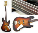 EDWARDS E-JB-128R/RE 3TS relic finish fretless electric bass