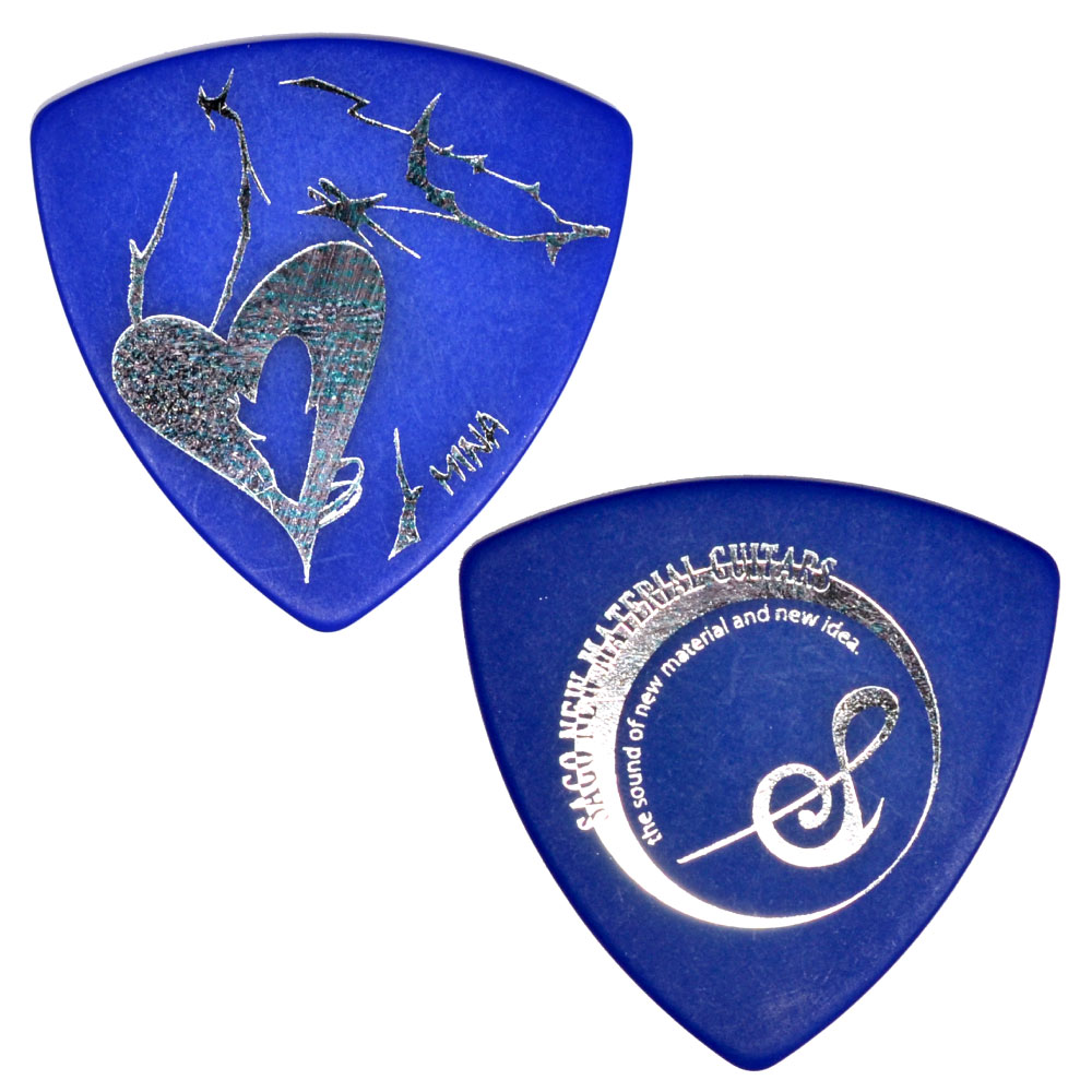Sago GIRLFRIEND MINAモデルピック Blue Polyacetal 1.0mm×10枚