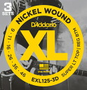 Great guitar chord D ' Addario EXL125-3D electric guitar strings and set 3 Pack x 2 SET D'Addario 3 set into one package