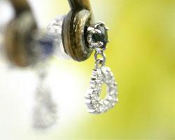 サファイア ダイヤモンド K18WGピアス