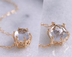 アクアマリン K10ピンクゴールド ネックレス