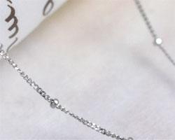 K10ホワイトゴールド スパークリングチェーン ブレスレット