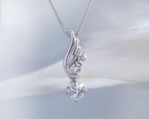 ダイヤモンド K10ホワイトゴールド ネックレス