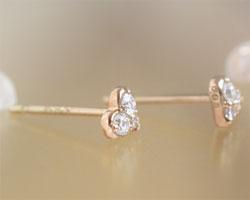 K18ピンクゴールド ダイヤモンド・ピアス