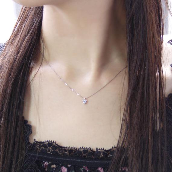 ダイヤモンド プラチナ ネックレス