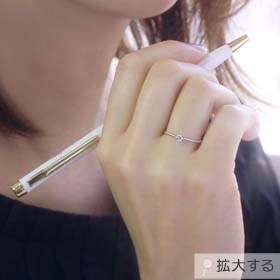 ダイヤモンド K10ホワイトゴールド リング
