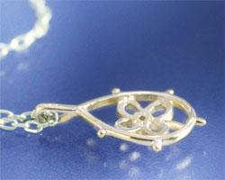 クローバー ダイヤモンド K10イエローゴールド ネックレス
