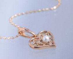 パール(真珠) K10ピンクゴールド ネックレス