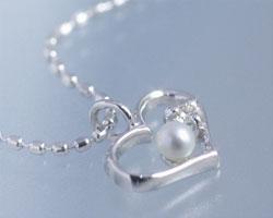 パール(真珠) K10ホワイトゴールド ネックレス