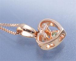 ペリドット K10ピンクゴールド ネックレス