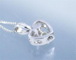 ペリドット K10ホワイトゴールド ネックレス
