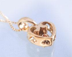 ピンクトルマリン K10ピンクゴールド ネックレス