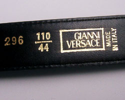 how to tell real versace belt