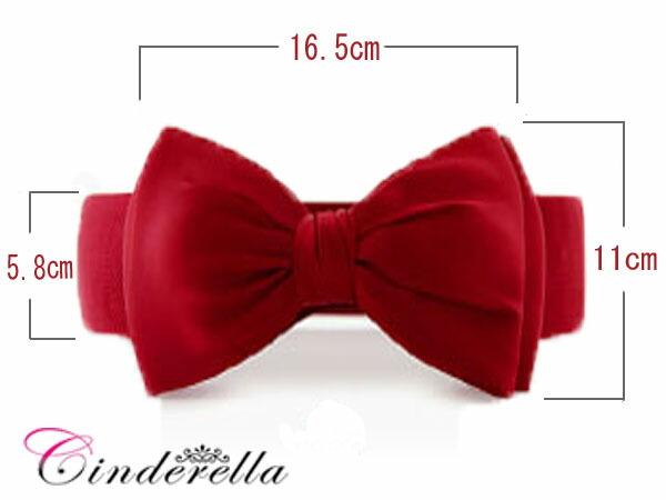 白色,黑色红丝带标志绣弹力带 brt02