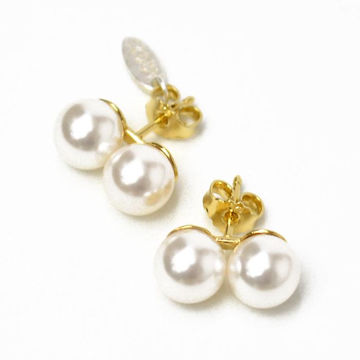 WOUTERS&HENDRIX【ウッターズアンドヘンドリックス】パールピアス PHP3/G-5 silver pearl GOLD(パール/ゴールド)