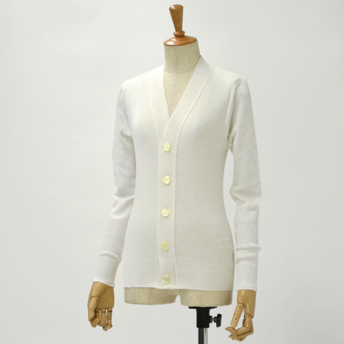 Letroyes【ルトロア/ルトロワ】カーディガン アンリ HENRI CARDIGAN cotton LATTE(コットン ホワイト)