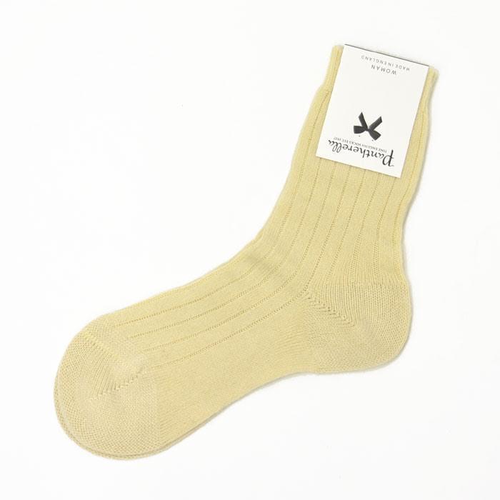 Pantherella【パンセレラ】カシミヤ靴下 W750 cashmere MILK(オフホワイト)