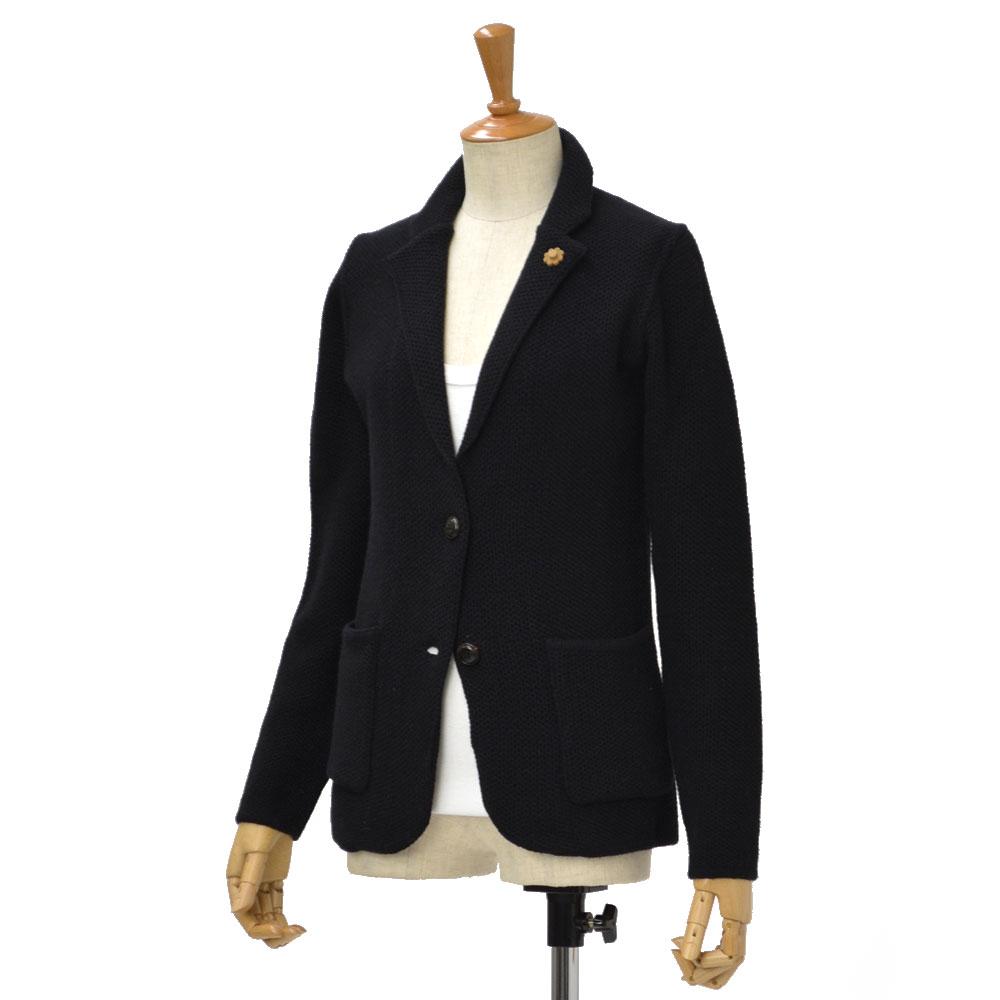 LARDINI【ラルディーニ】ニットジャケット CICLAMINO/IB47011/99 wool alpaca BLACK(ブラック)