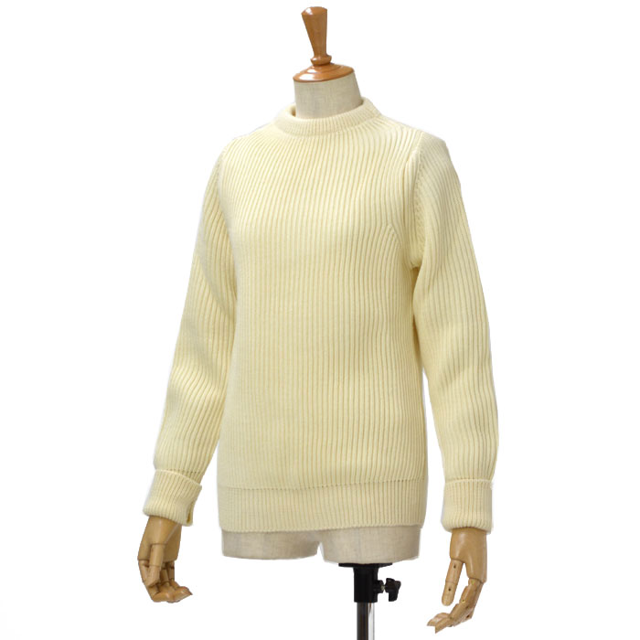 ANDERSEN-ANDERSEN【アンデルセンアンデルセン】クルーネックニット AD-002 CREW NECK wool OFFWHITE(オフホワイト)