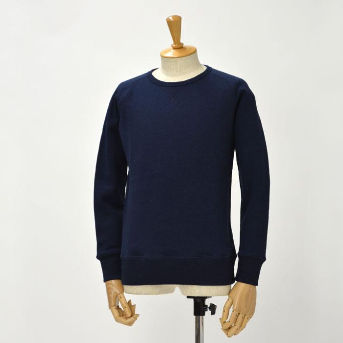 Letroyes【ルトロア/ルトロワ】裏毛スウェットクルーネック LT701 CLAUDE RAGLAN cotton NAVY(ネイビー コットン)