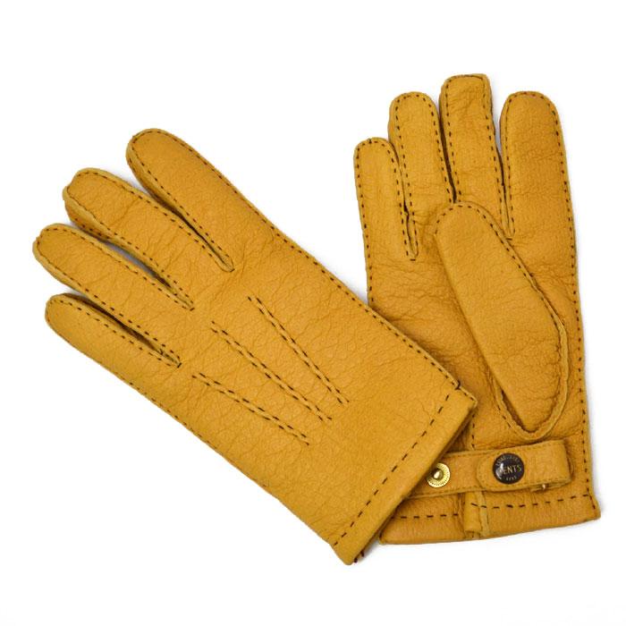 DENTS【デンツ】手袋/グローブ 15-1564 CorkPeccary&Cashmere lining(イエロー ペッカリー&カシミアライニング)