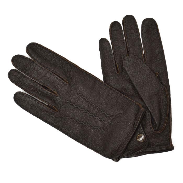 DENTS【デンツ】手袋/グローブ 15-1043 Bark Peccary&No lining(ブラウン ペッカリー)