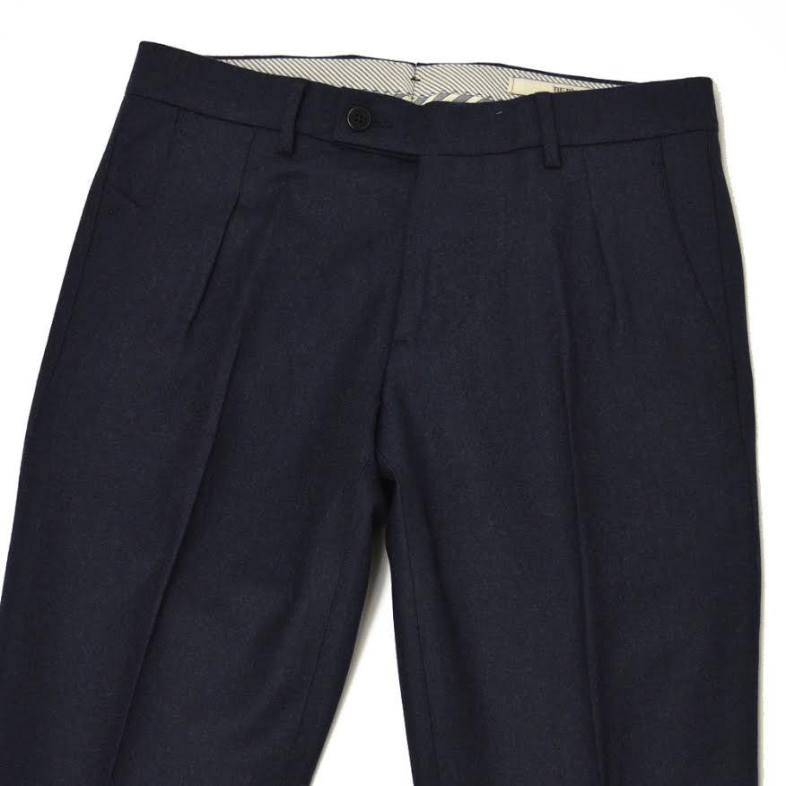 BERWICH【ベルウィッチ】フラノパンツ SC DANDY-RD1054 wool BLUE(ウール ブルー)