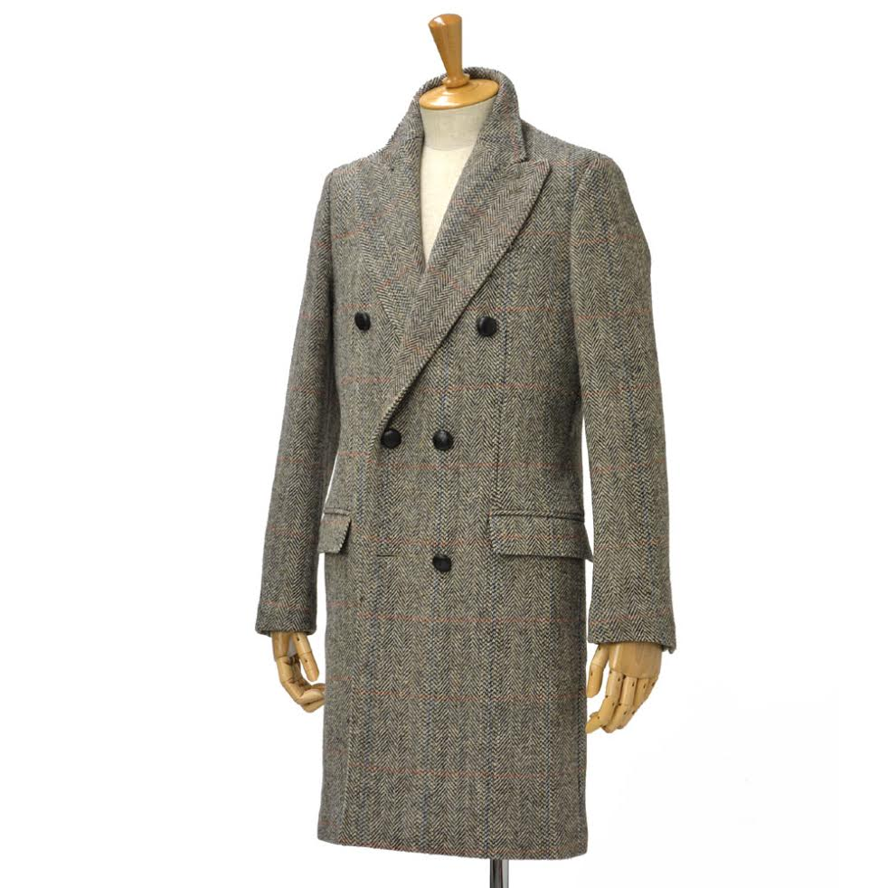 PALTO【パルト】ハリスツイードコート GREGORIO HT8 M050 wool GRAY(グレー)