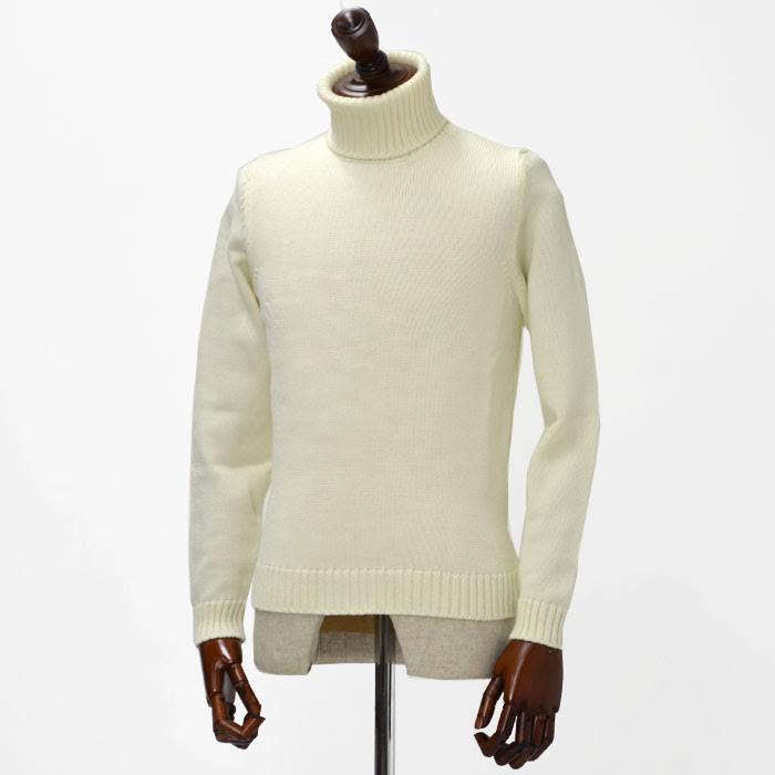ZANONE【ザノーネ】【秋冬】ミドルゲージタートルネック 810005 Z3623 wool WHITE(ウール ホワイト)