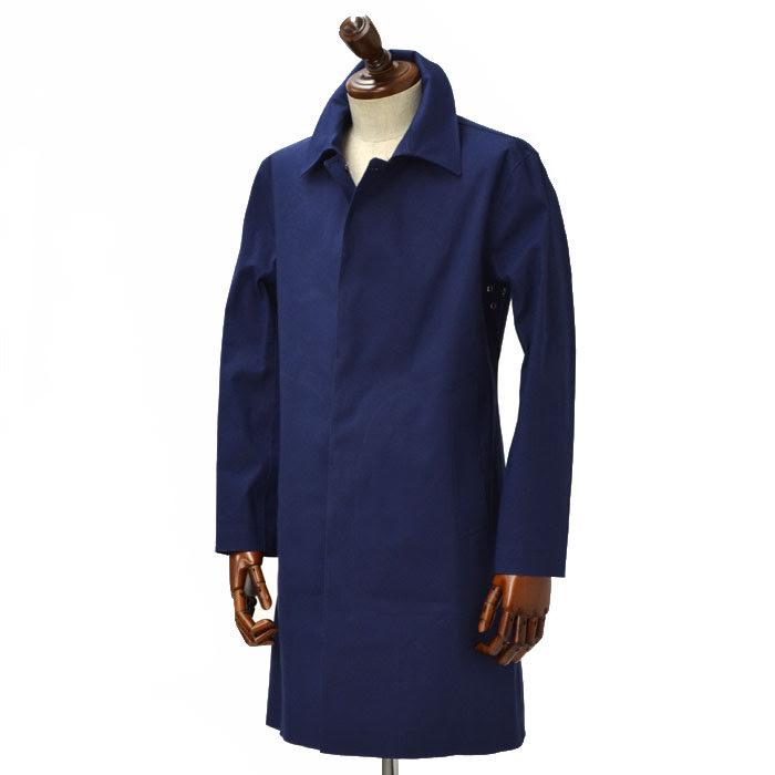 HANCOCK【ハンコック】ステンカラーコート M041/HV/HL01 066 cotton NAVY(コットン ネイビー)