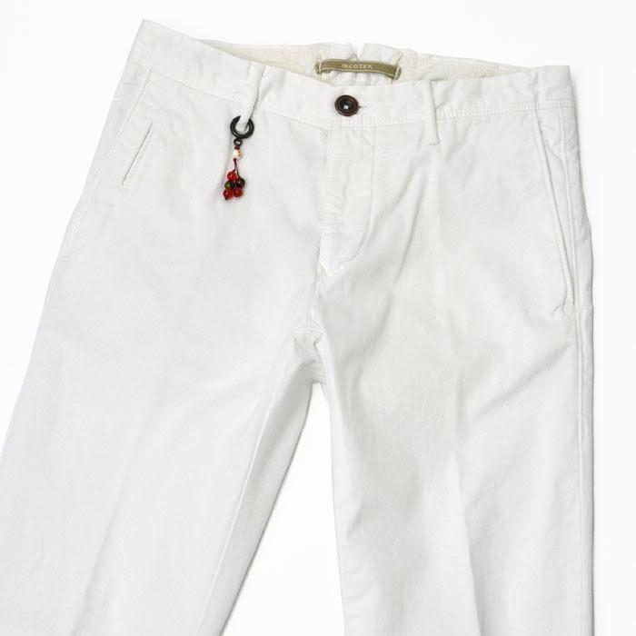 INCOTEX SLACKS【インコテックス スラックス】 コットンパンツ 1ST619 9619P 001 skin fit cotton strech WHITE(コットン ストレッチ ホワイト)