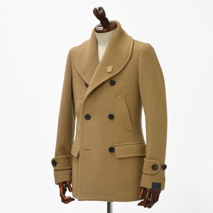 LARDINI【ラルディーニ】【秋冬】ショールカラーコート JH5505 IAA45660/1 wool CAMEL(ウール キャメル)