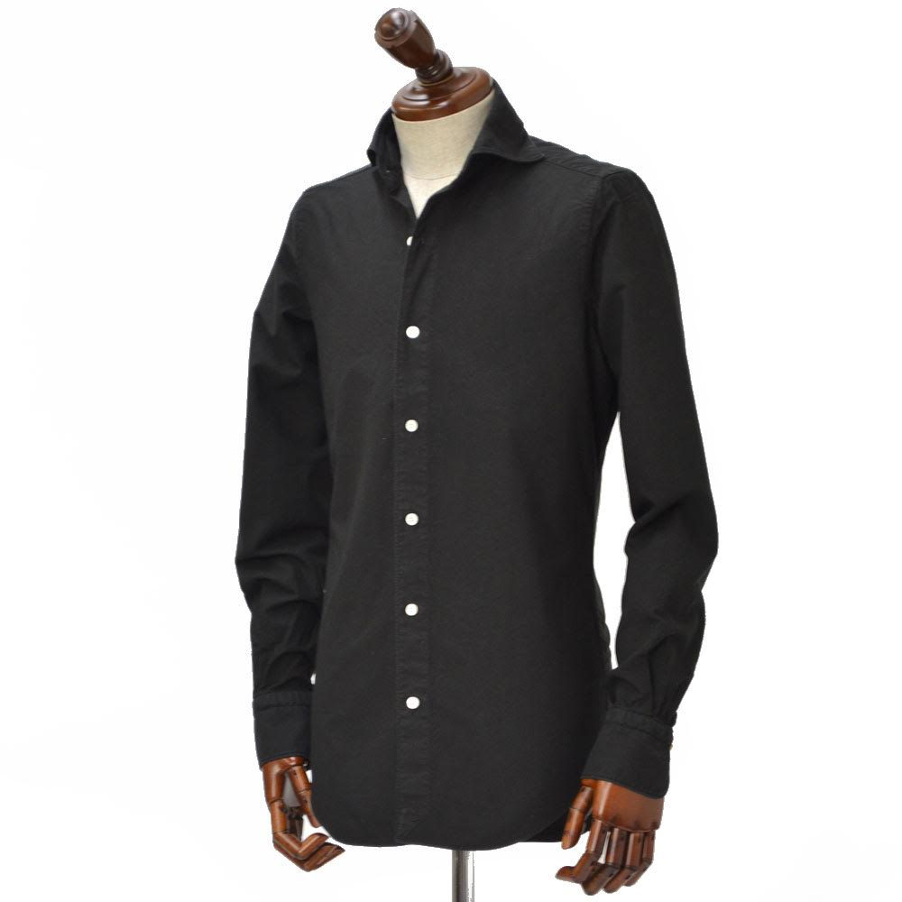 Finamore【フィナモレ】シャツ PIERO 980080/023 cotton oxford BLACK(コットン オックスフォード ブラック)