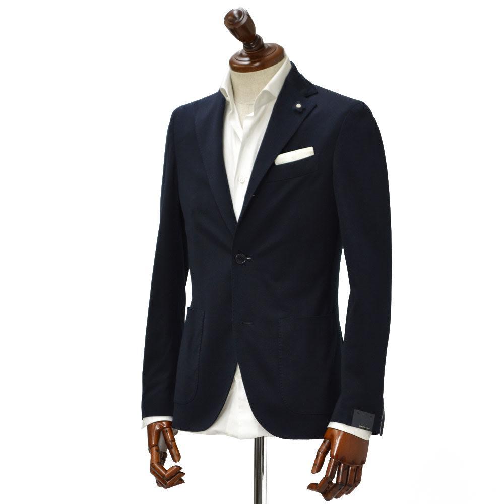LARDINI【ラルディーニ】【春夏】シングルジャケットJI560AQ EARJ46577/35 cotton JEESEY DARK NAVY( ロロ・ピアーナコットン ジャージー ダークネイビー)