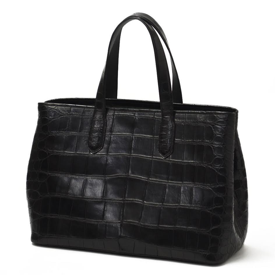 CISEI【チセイ/シセイ】CROCODILE tote bag BLACK (クロコダイル トートバッグ ブラック)