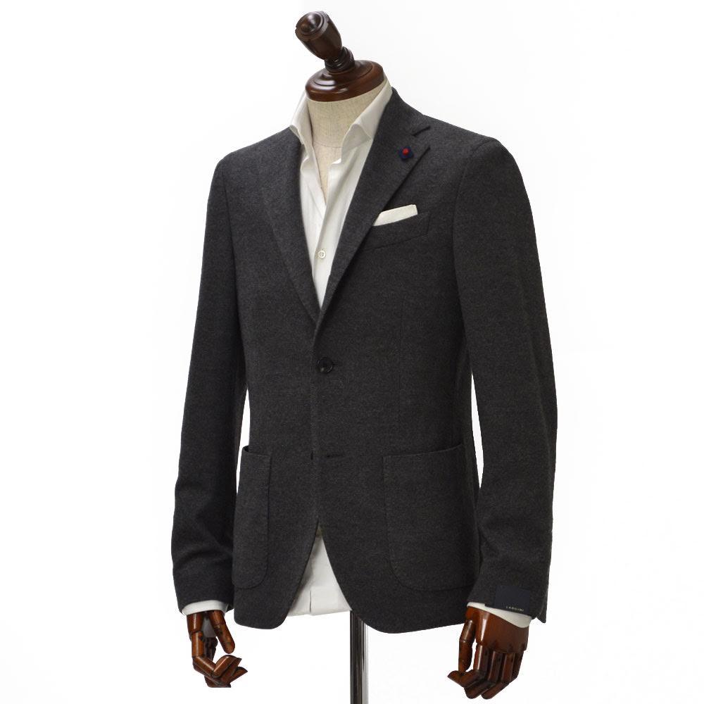 LARDINI【ラルディーニ】 【秋冬】シングルジャケット JJ560AQ-25/IBRJ47572/4 cotton wool JERSEY BROWN(コットン ウール ジャージー ブラウン)