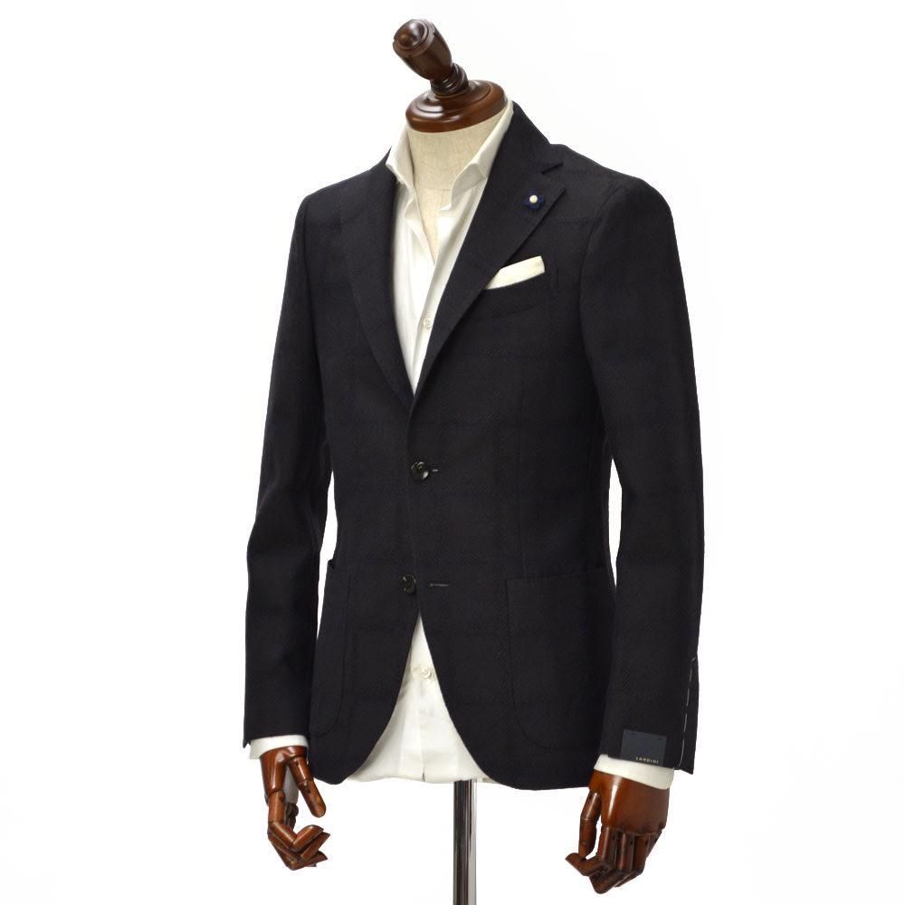 LARDINI【ラルディーニ】 【秋冬】シングルジャケット JJ526AQ/IBRP47593/2 wool WINDOWPANE BROWN×NAVY(ウール ウィンドペーン ブラウン×ネイビー)