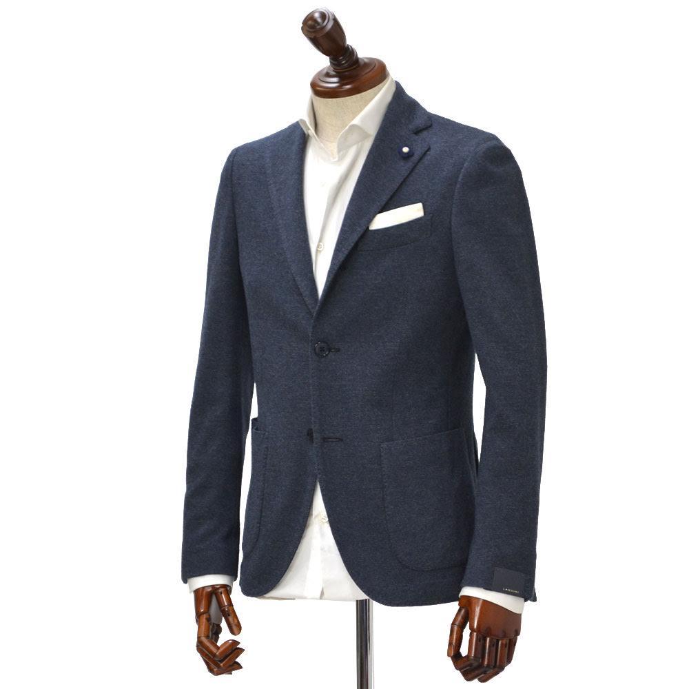 LARDINI【ラルディーニ】【秋冬】シングルジャケット JJ560AQ-25/IBRJ47572/1 cotton wool JERSEY NAVY(コットン ウール ジャージー ネイビー)