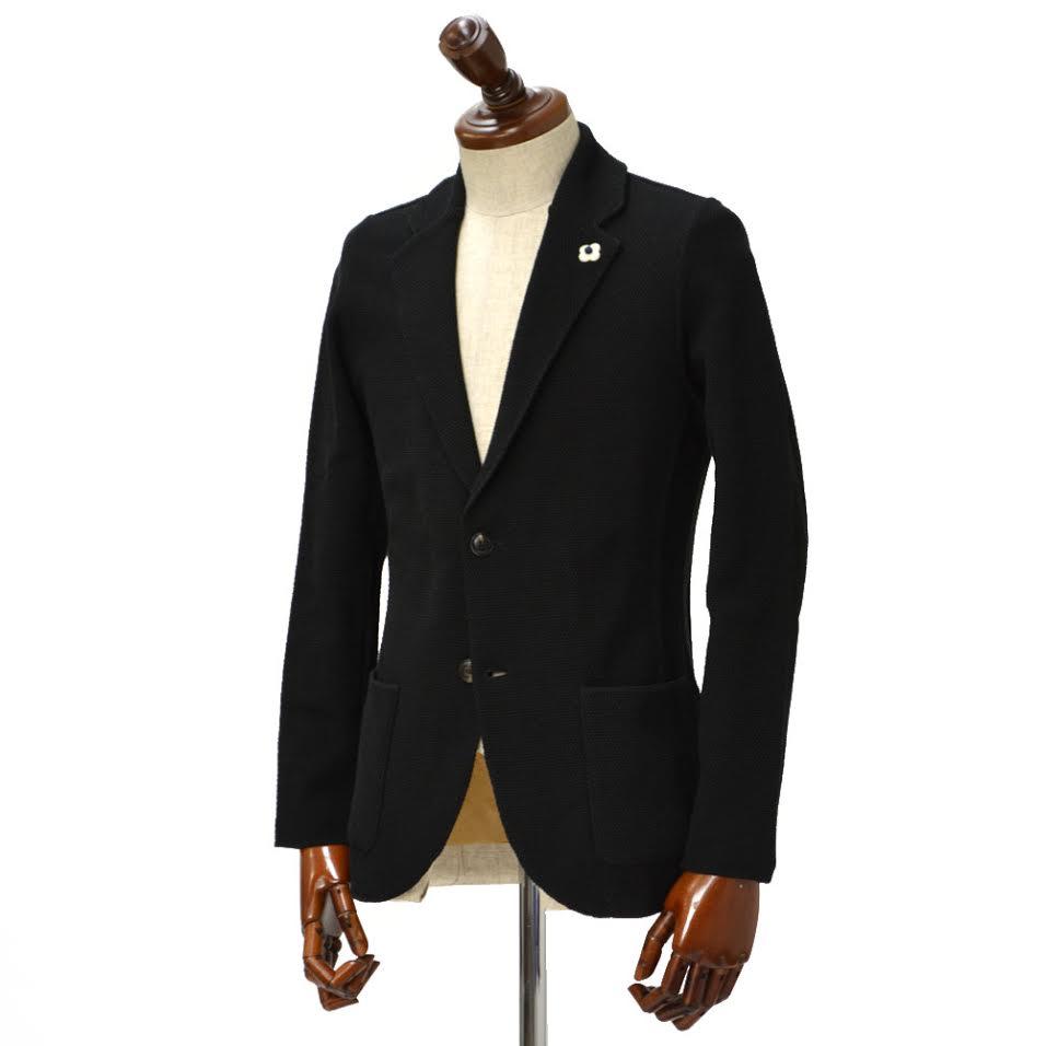 【送料無料】LARDINI【ラルディーニ】 ニットジャケット JKLJM19 EC48011 999 コットン ブラック