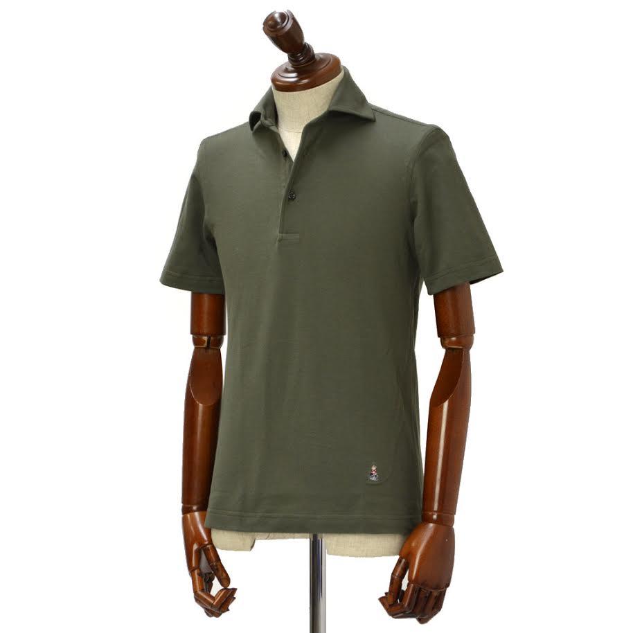 GUY ROVER【ギローバー】 半袖ポロシャツ 2250PC435J 571500//12.216 鹿の子 ホリゾンタル カーキ