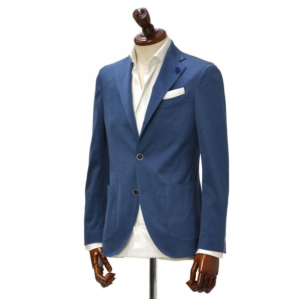 LARDINI【ラルディーニ】 シングルジャケット JK0560AQ53 ECRJ48576 82 コットン ジャージー ブルー