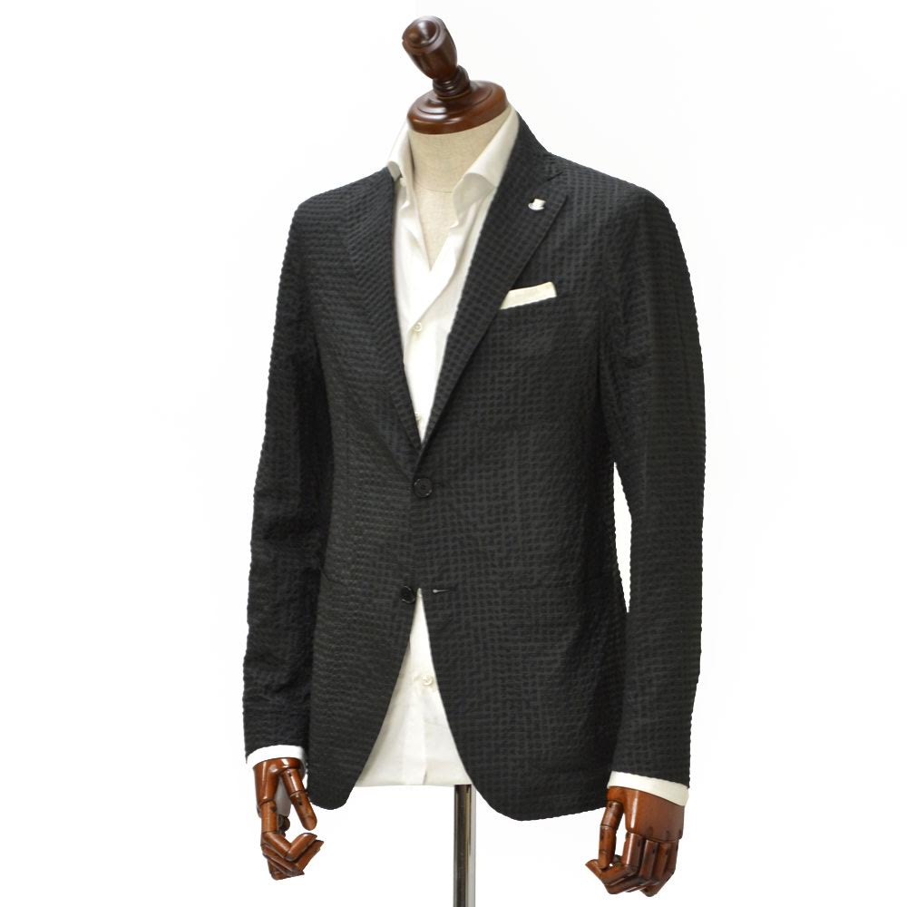 TAGLIATORE【タリアトーレ】シングルジャケット C8UER025 N1411 SAHARA サハラ シアサッカー ナイロン ブラック