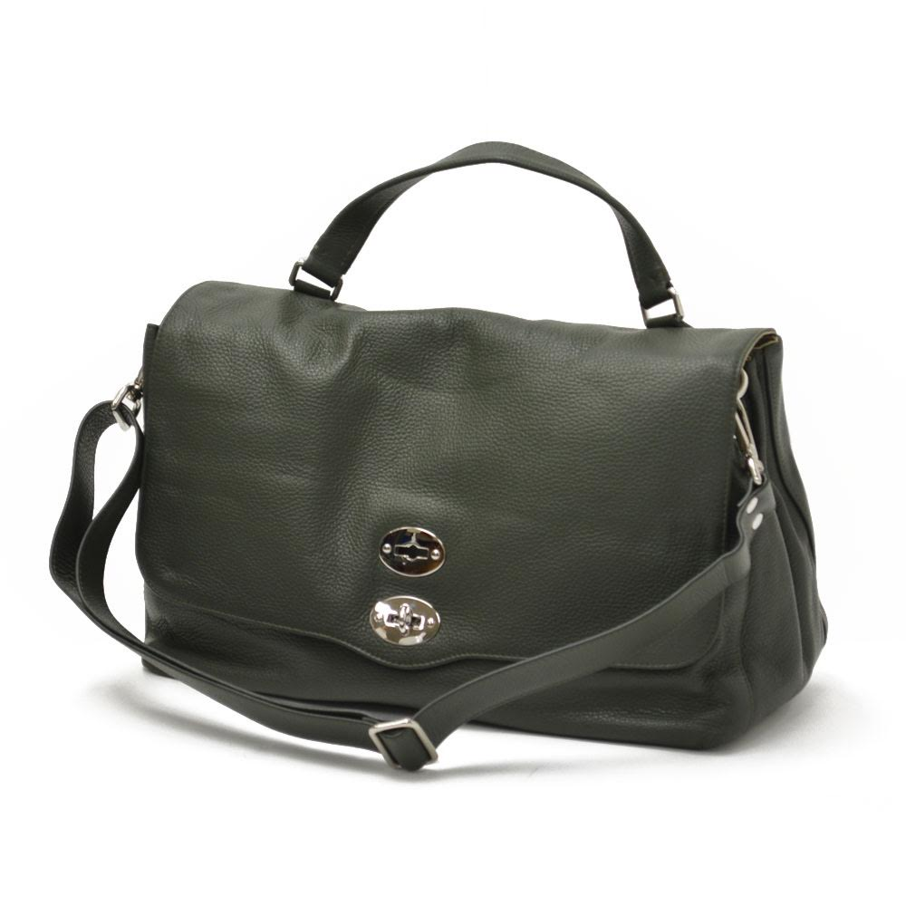 【送料無料】ZANELLATO【ザネラート】ワンハンドルバッグ POSTINA L 36014-25 24 leather LODEN(レザー カーキグリーン)