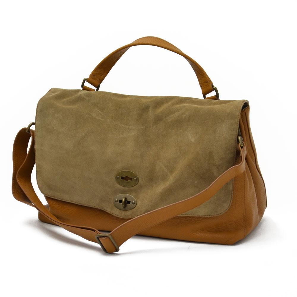 ZANELLATO【ザネラート】ワンハンドルバッグ POSTINA L 36014-26 C6 leather suede CAFFELATTE(レザー スエード ベージュキャメル )