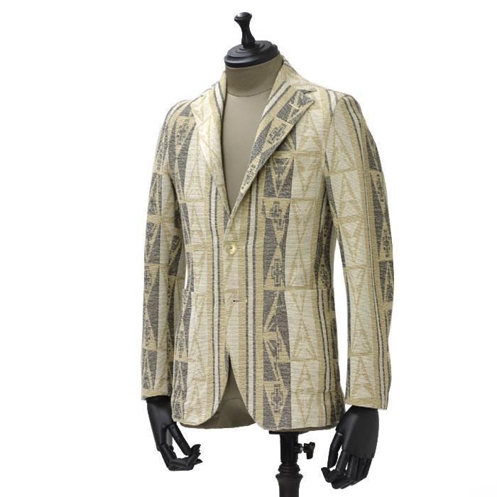 【送料無料】THE GIGI【ザ ジジ】【春夏】シングルジャケット ANGIE D090 850 cotton african jacquard BEIGE ( コットン アフリカン ジャガード ベージュ)