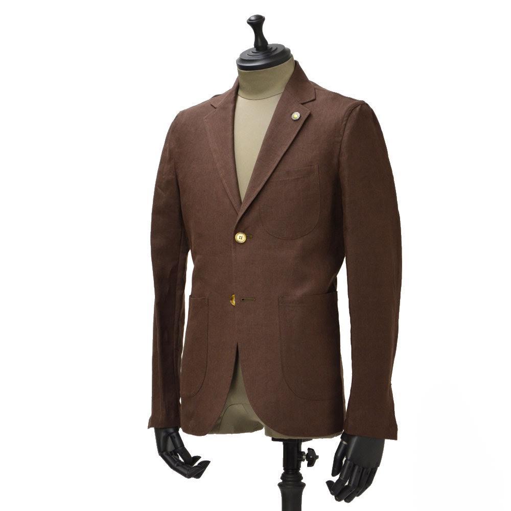 Giannetto【ジャンネット】シャツジャケット 6G834JK 001 リネン ブラウン