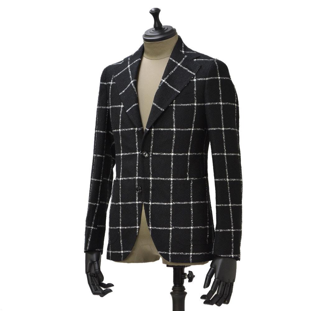 TAGLIATORE【タリアトーレ】シングルジャケット G-PL22K 85WEG029 32NE PINO LERARIO リネン ナイロン ウィンドウペーン ブラック