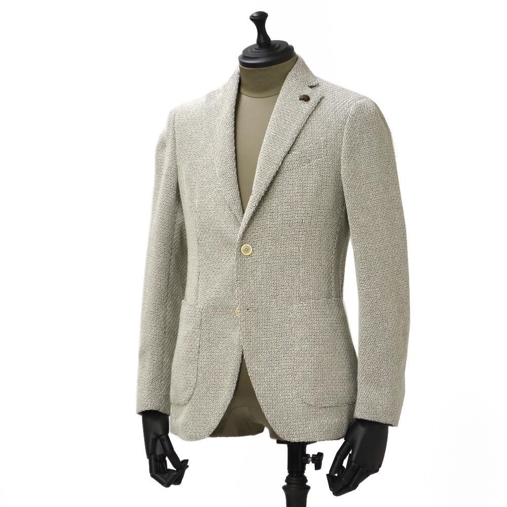 Gabriele Pasini【ガブリエレ パジーニ】シングルジャケット JG80030Q GP8439 901 コットン ホップサック ホワイト ブラック