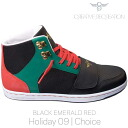 Creative recreation Cesario choice black / Emerald / red Creative Recreation CR8 CR449 CESARIO Choice Black/Emerald/Red